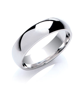 6mm Court Shape Wedding Band - Made to Order - Queen of Silver