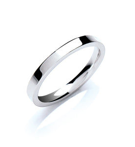 2mm Flat Court Shape Wedding Band - Made to Order - Queen of Silver