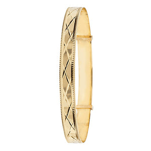 9ct Yellow Gold Ladies' Dc Expand 6.5Mm Bangle