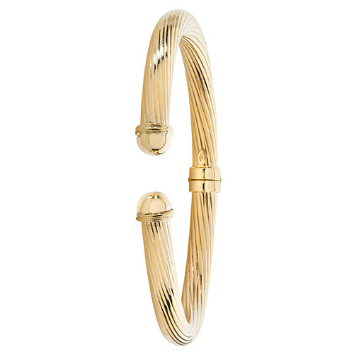 9ct Yellow Gold Ladies' Open Hinged Bangle