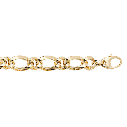 9ct Yellow Gold Ladies' 7.5 Inches Fancy Bracelet