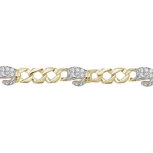 9ct Yellow Gold Babies' 6 Inches Boxing Gloves Cubic Zirconia Id Bracelet
