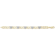 9ct Yellow Gold Hearts Bracelet
