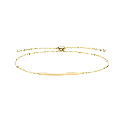 9ct Yellow Gold Bar Pull Style  Bracelet