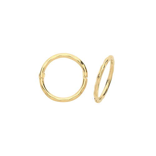 9ct Yellow Gold 14Mm Hinged Hoops