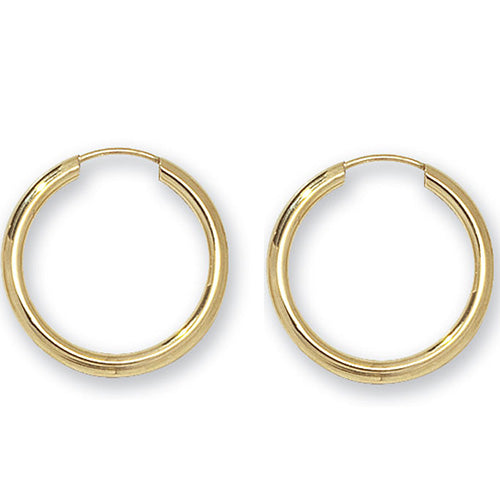 9ct Yellow Gold 16Mm Sleepers