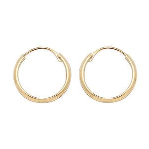 9ct Yellow Gold 12Mm Sleepers