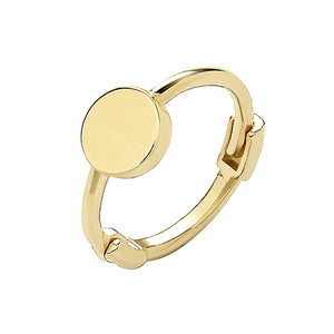 9ct Yellow Gold Plain Circle Cartilage Hoop