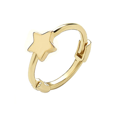9ct Yellow Gold Plain Star Cartilage Hoop