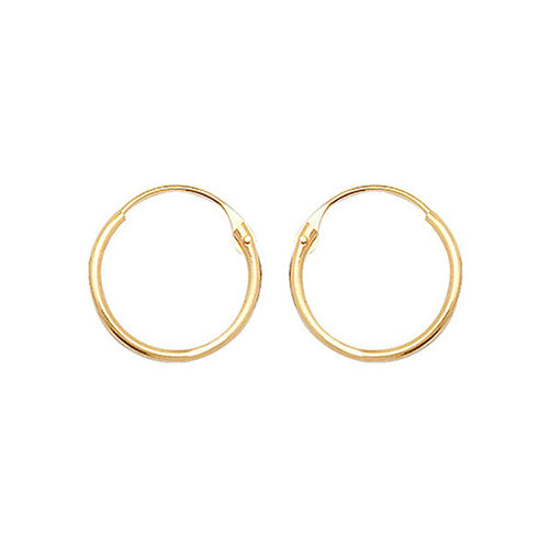 9ct Yellow Gold 09Mm Hinged Sleepers
