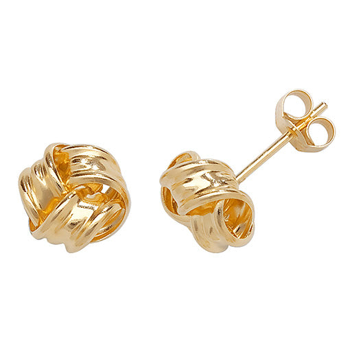 9ct Gold Knot Studs