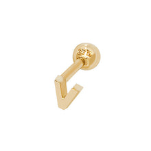 9ct Yellow Gold Initial Cartilage 6Mm Post Stud