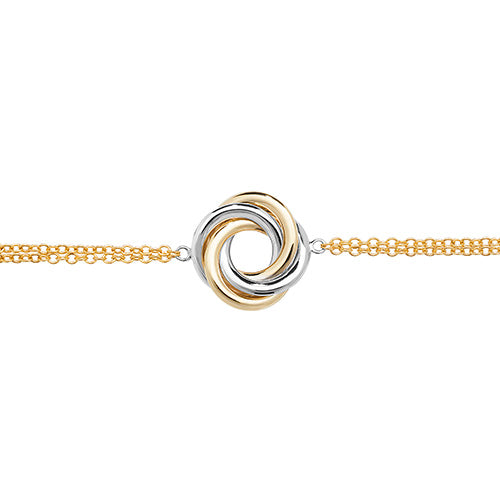 9ct Yel/White Gold Ladies' Gold 7.5 Inch Bracelet