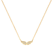 9ct Yellow Gold Cubic Zirconia Wings Necklet