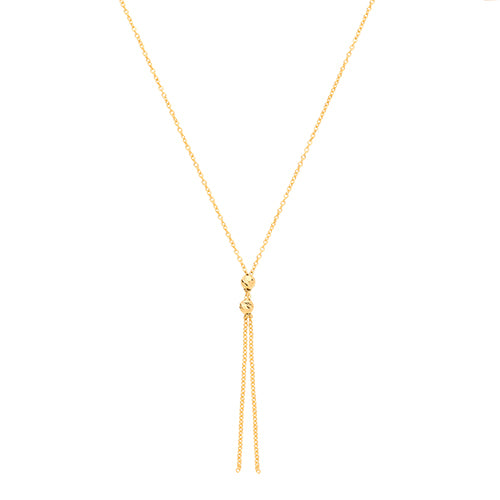 9ct Yellow Gold Drop Necklet