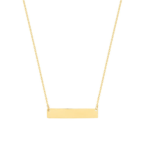 9ct Yellow Gold Horizontal Bar Necklet