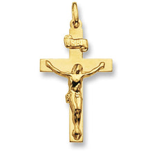 9ct Yellow Gold Crucifix Pendant