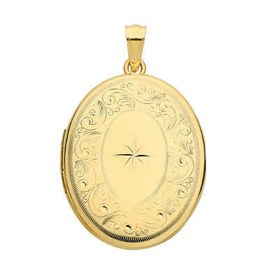 9ct Yellow Gold Oval  Locket