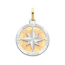 9ct Yellow Gold Compass Rose Medium Pendant