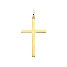 9ct Yellow Gold Semi Solid Cross