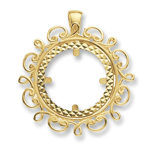 9ct Yellow Gold Full Coin Mount Pendant