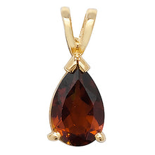 9ct Yellow Gold Garnet Pendant