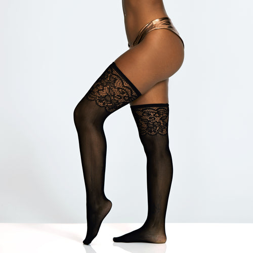 Lace Look Over-Knee Stockings
