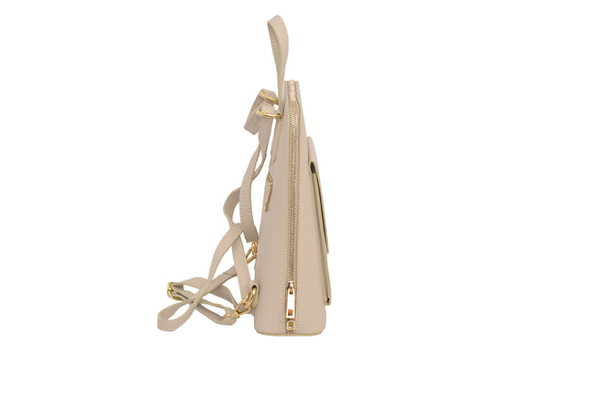 Cream 3 in 1 - backpack / rucksack, cross body bag, and hand bag in one.