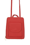 Red 3 in 1 - backpack / rucksack, cross body bag, and hand bag in one.