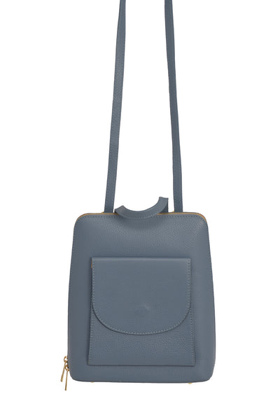 Denim Blue 3 in 1 - backpack / rucksack, cross body bag, and hand bag in one.