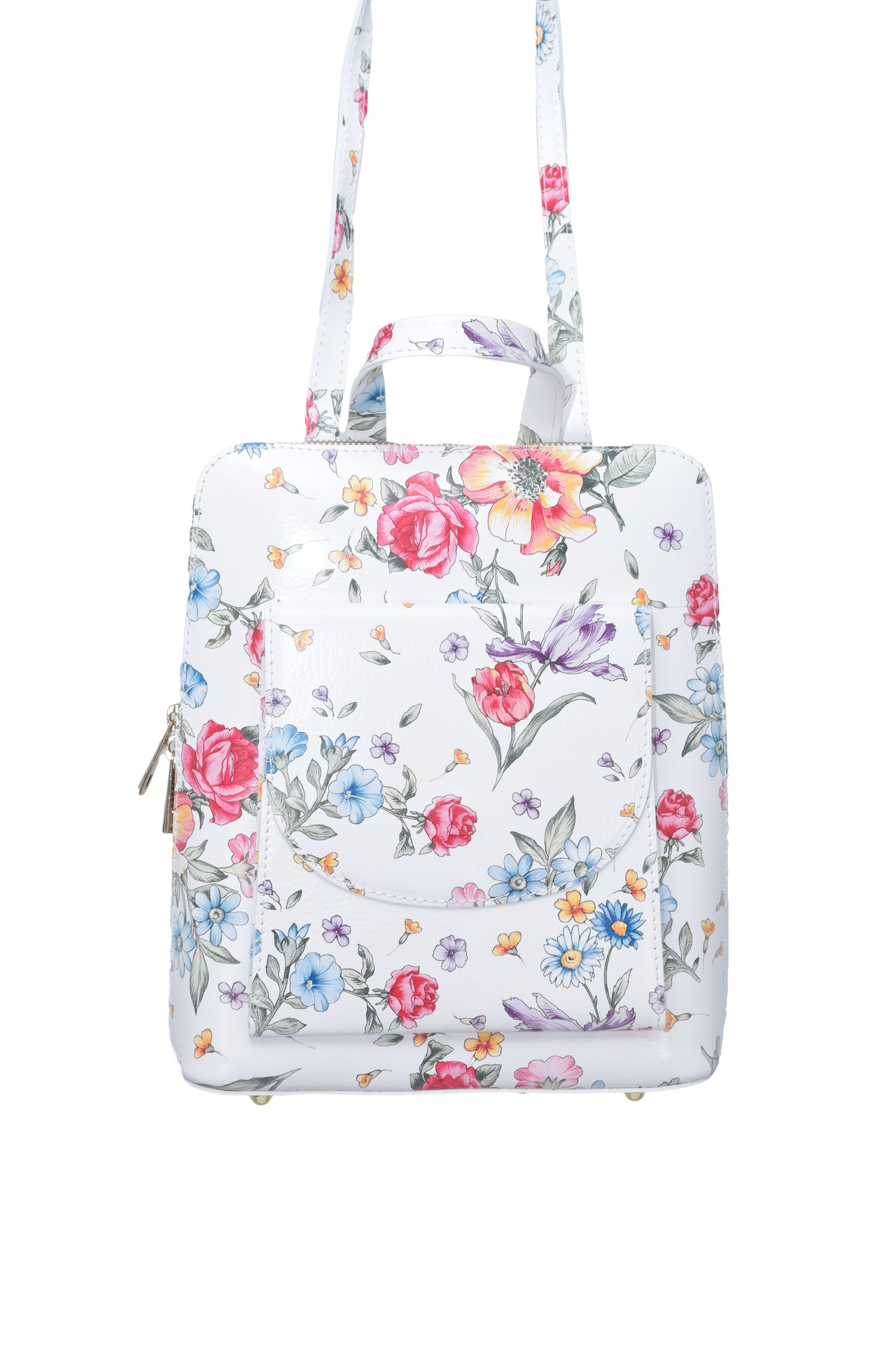 Floral 3 in 1 - backpack / rucksack, cross body bag, and hand bag in one.