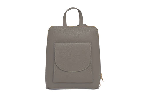 Grey 3 in 1 - backpack / rucksack, cross body bag, and hand bag in one.
