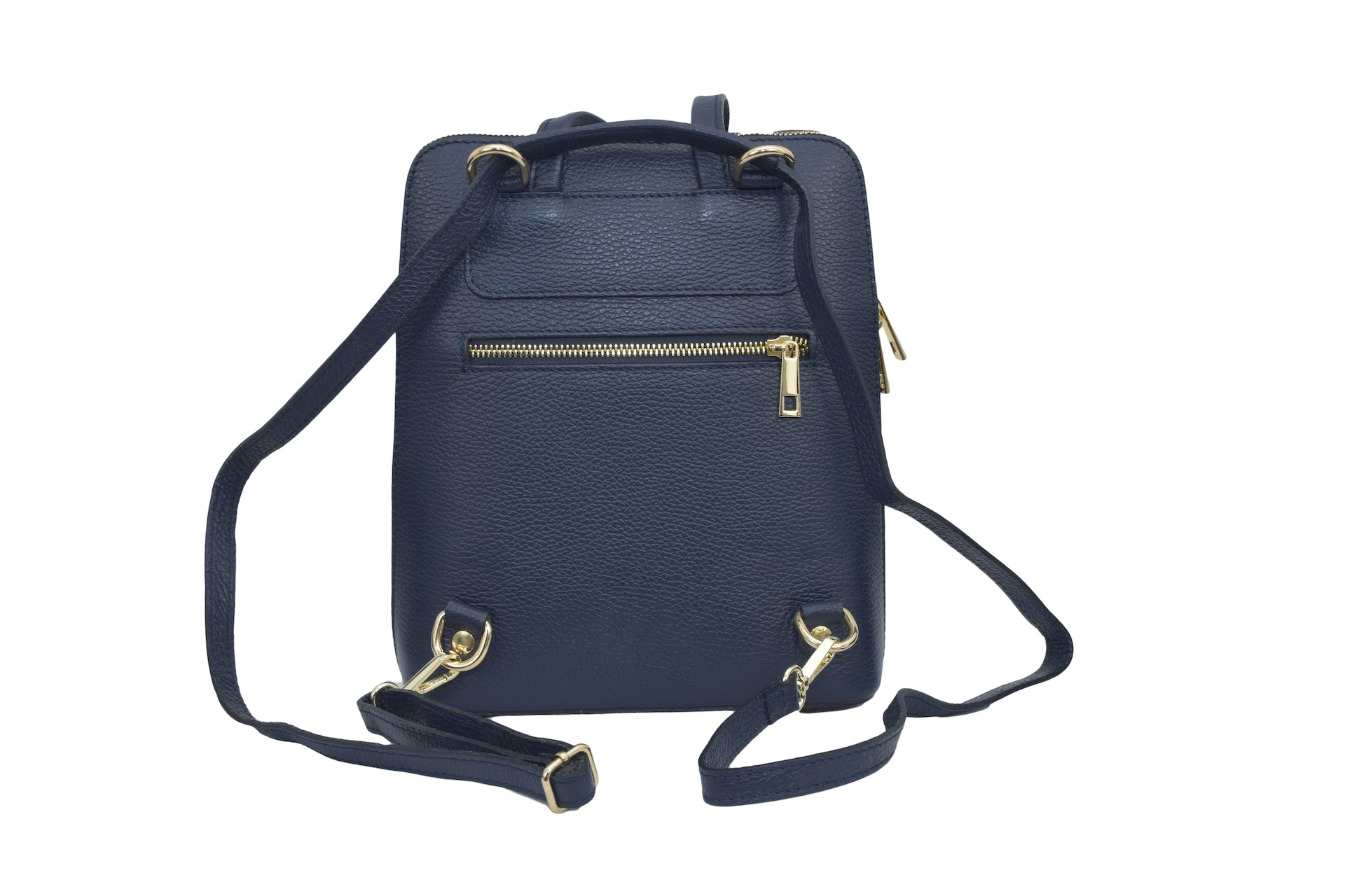 Navy 3 in 1 - backpack / rucksack, cross body bag, and hand bag in one.