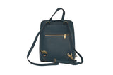 Teal 3 in 1 - backpack / rucksack, cross body bag, and hand bag in one.