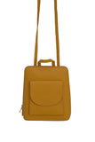 Yellow 3 in 1 - backpack / rucksack, cross body bag, and hand bag in one.