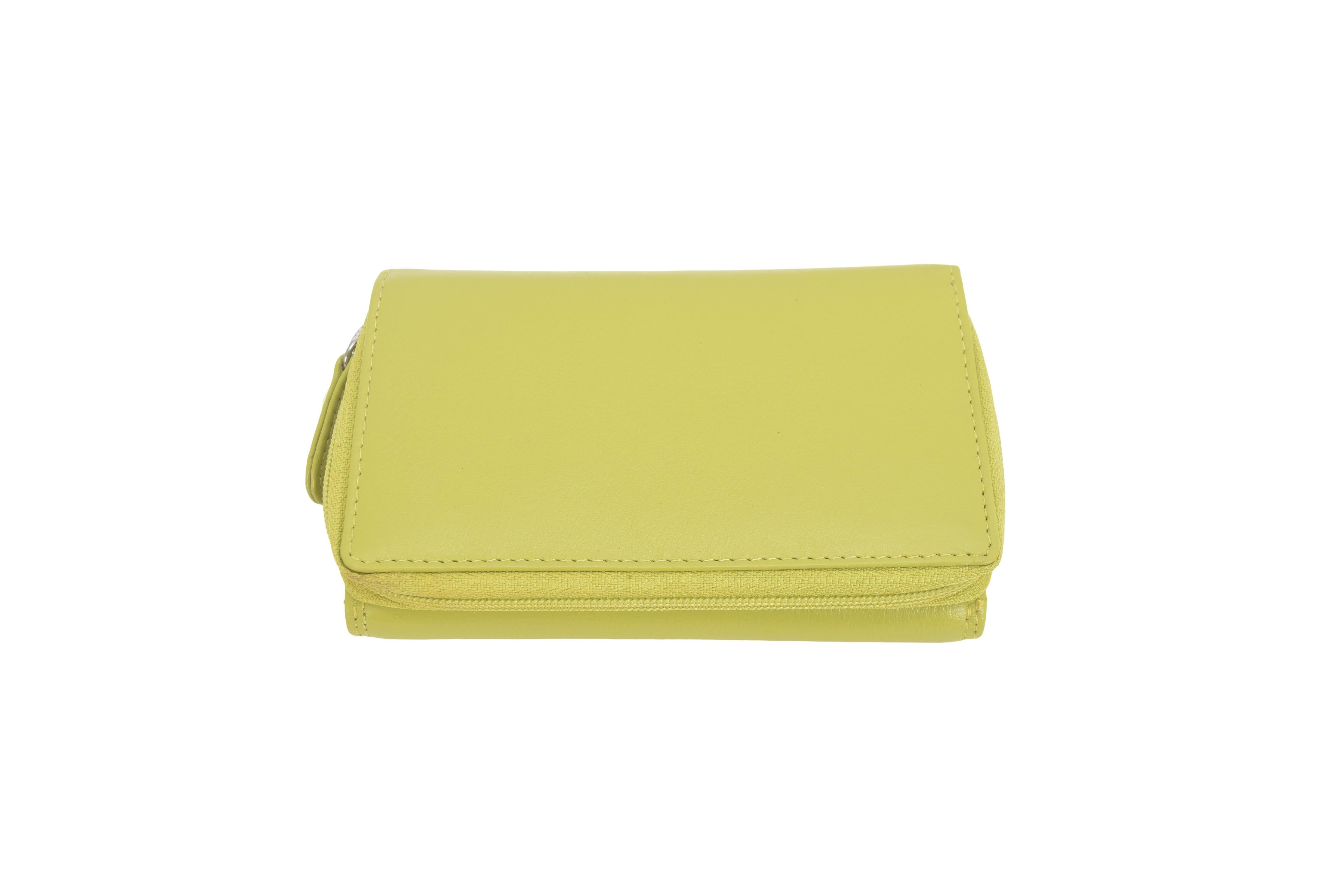 Bella range of coloured compact real leather purses wallets (medium)