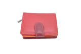 Coral range of dual coloured compact real leather purses wallets (small)