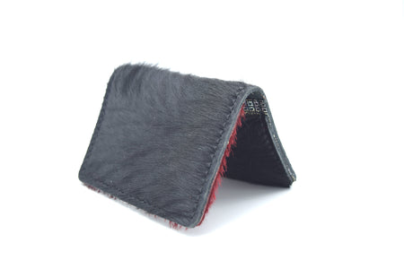 Navy Unisex Handmade Oyster Travel Card Holder Wallet ID in Leather, Cowhide, Nubuck and Suede