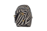 Zebra cowhide evening clutch leather bag with detachable gold chain strap