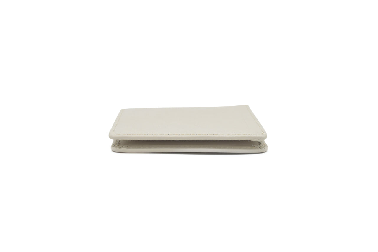 Cream Unisex Handmade Oyster Travel Card Holder Wallet ID in Leather, Cowhide, Nubuck and Suede