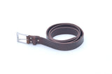Chocolate Brown Real Cowhide Leather Handmade Belt