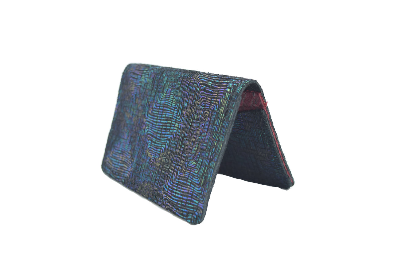 Disco Unisex Handmade Oyster Travel Card Holder Wallet ID in Leather, Cowhide, Nubuck and Suede