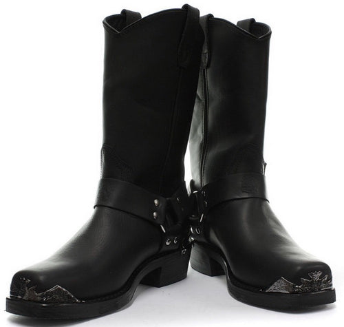 Eagle HI calf length biker boots.