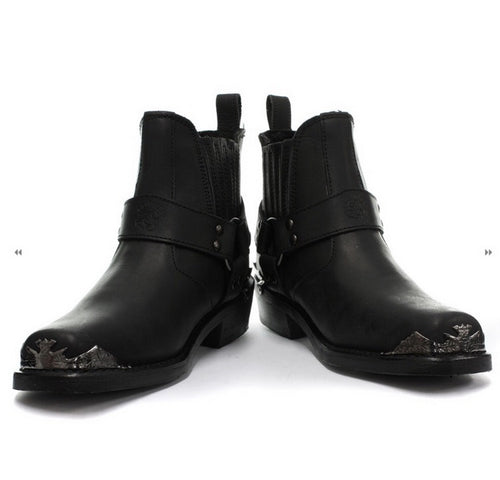 Eagle Lo ankle length biker boots.