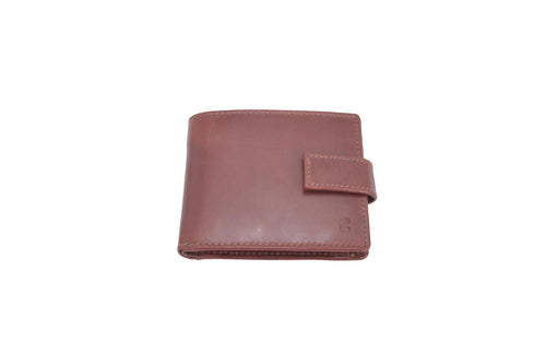 Copy of Men's Tri-Fold Brown 100% Leather Slim Pocket Size Wallet with card Holder Forum 7039