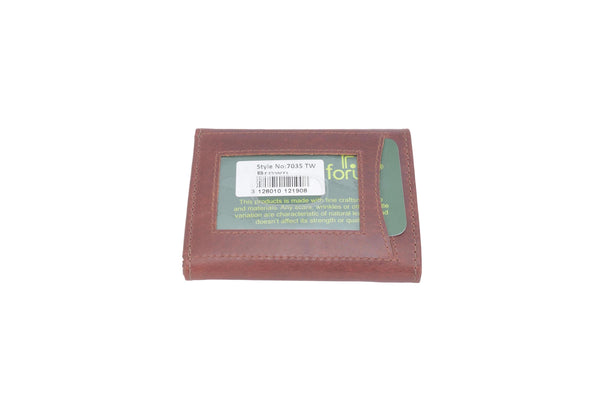 Forum 7035 Brown leather trifold wallet