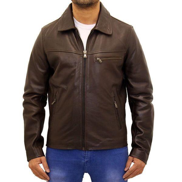 698656b803db Mens cowhide leather classic retro bomber jacket – A to Z Leather