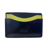 Navy Lime Leather Card Case / Wallets / Oyster Card Wallets