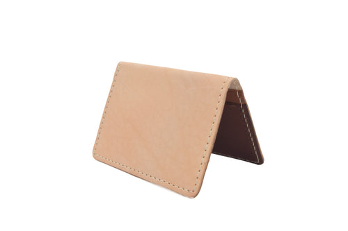 Peach Unisex Handmade Oyster Travel Card Holder Wallet ID in Leather, Cowhide, Nubuck and Suede