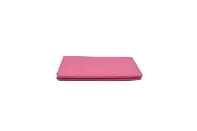 Pink Snake Unisex Handmade Oyster Travel Card Holder Wallet ID in Leather, Cowhide, Nubuck and Suede